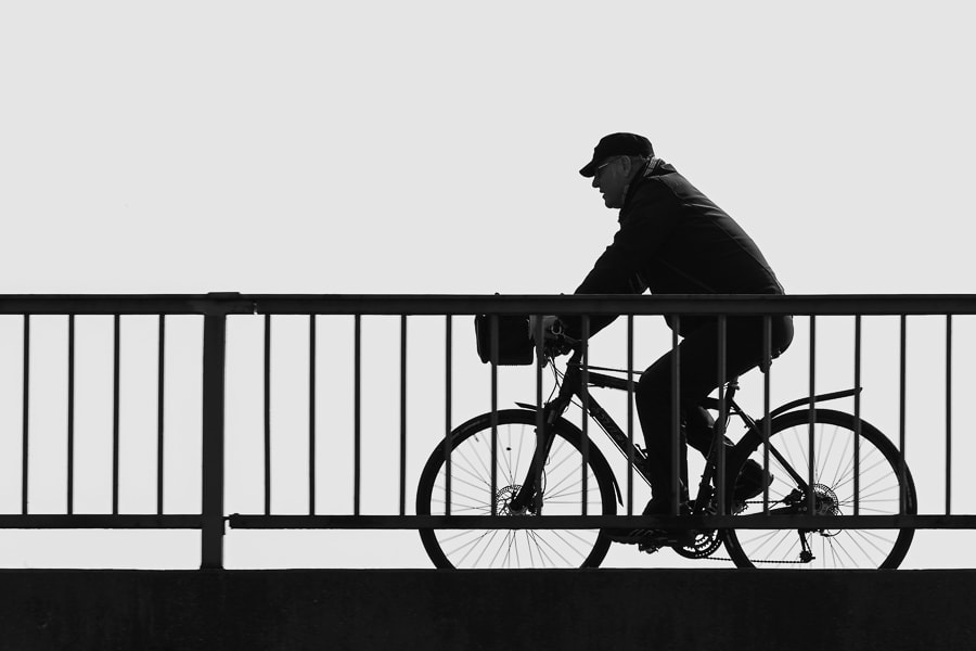 Photograph Silhouette of a Cyclist by Sim On on 500px
