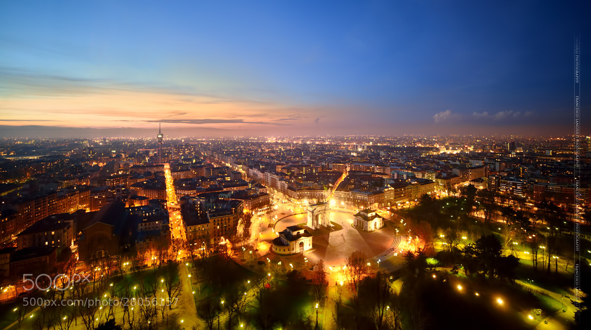 Photograph The magic of Milan during blue hour by Francesco Langiulli on 500px