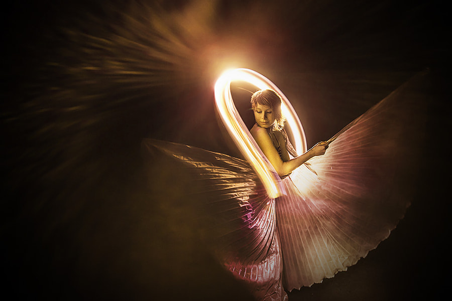 Photograph Bullet time lightpainting with Jamye La Luna by Eric  Paré on 500px
