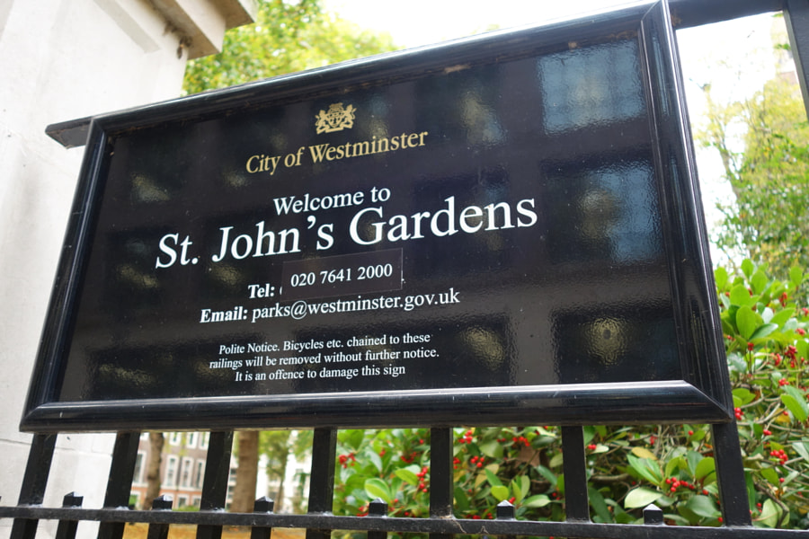 St John the Evangelist Gardens, London by Sandra  on 500px.com