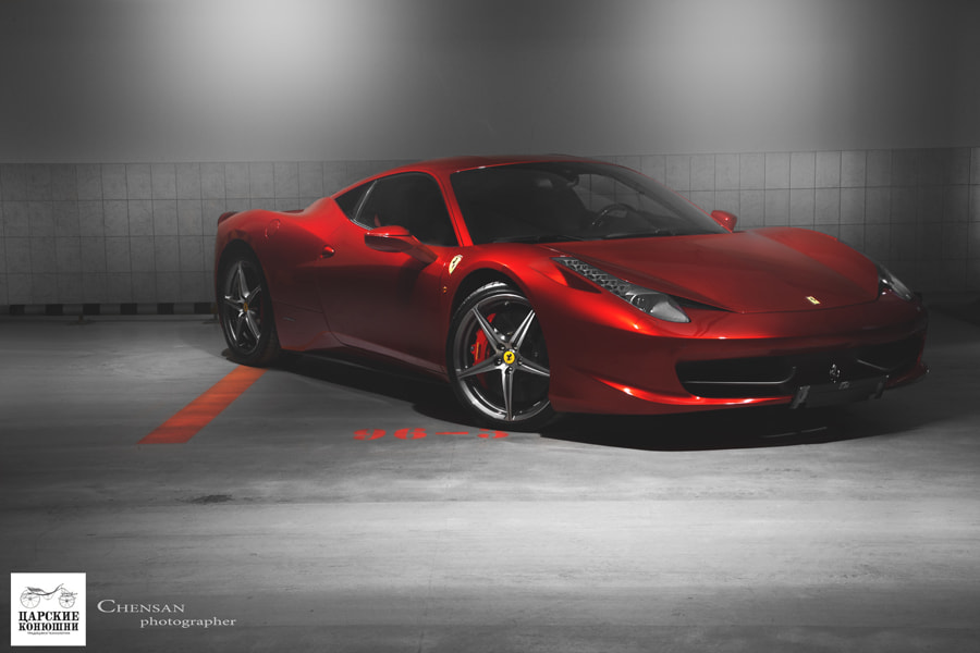 Photograph Ferrari 458 italia . by Chensan by  Chensan on 500px