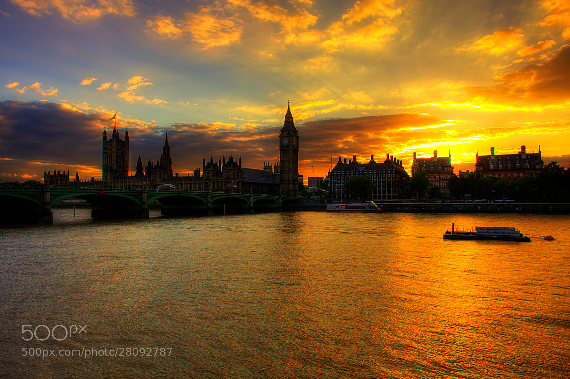 Photograph Parliament Sunset, London by Nigel Alexander on 500px