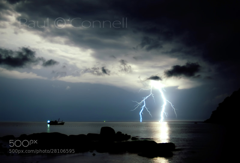 Photograph Lightning storm by Paul O'Connell on 500px