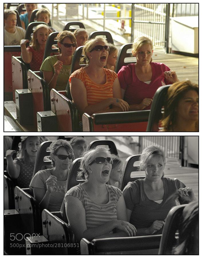 Reaction on Lagoon rollercoaster