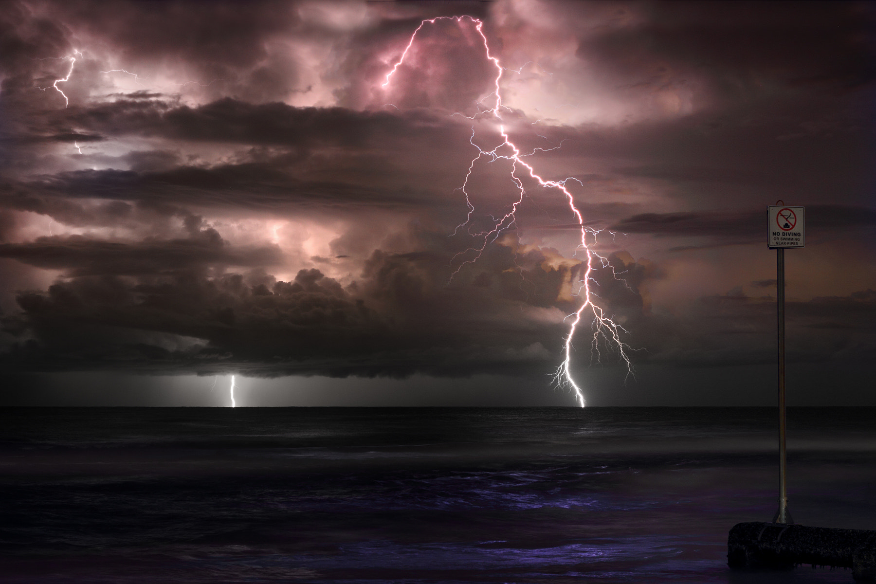 Photograph Lightning and the Pipe by rob woodward on 500px