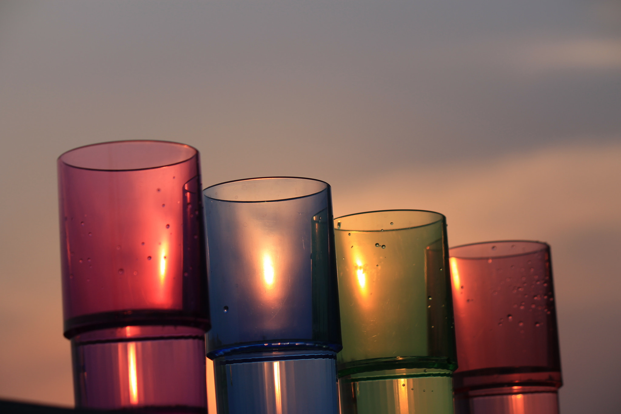 Photograph colorful sun  candles by Samrat ch on 500px