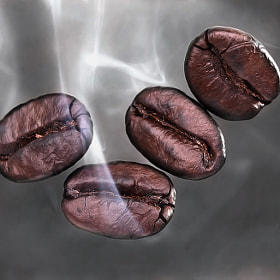 Smoky Coffee Beans by Prachit Punyapor (PCHT)) on 500px.com