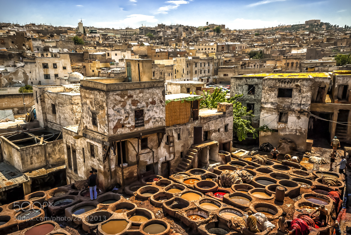Photograph Tanners in fez by Juan Luis Mayordomo on 500px