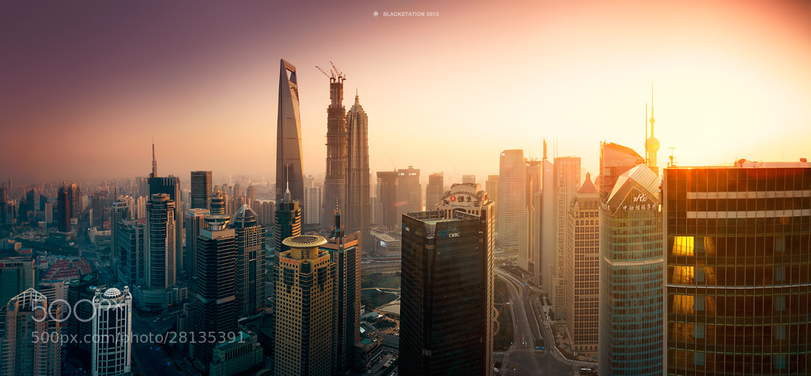 Photograph Shanghai Sunset by Black Station on 500px