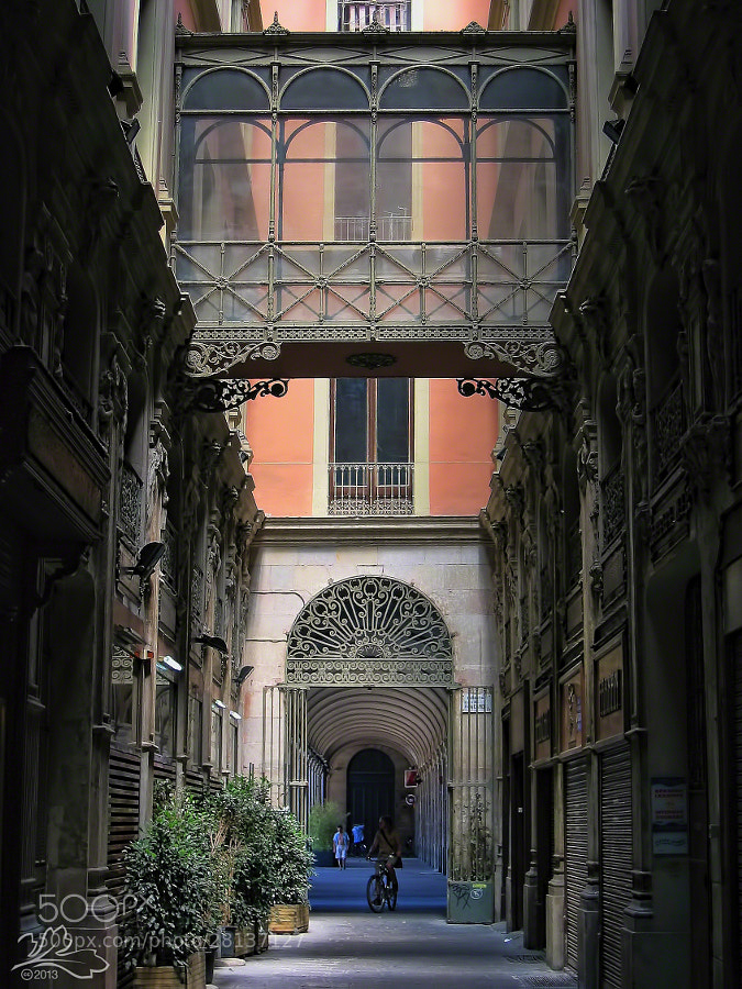 Courtyard Entrance, Barcelona, Spain