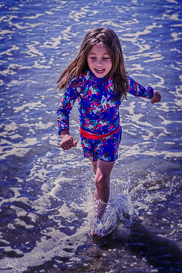 Child at high-tide