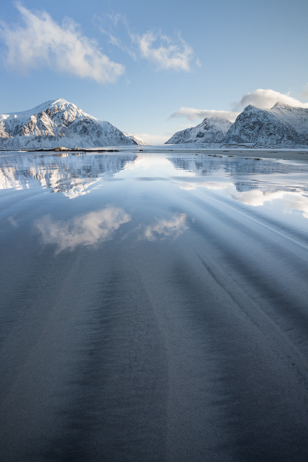 Photograph Skagsanden beach reflections by John Q on 500px