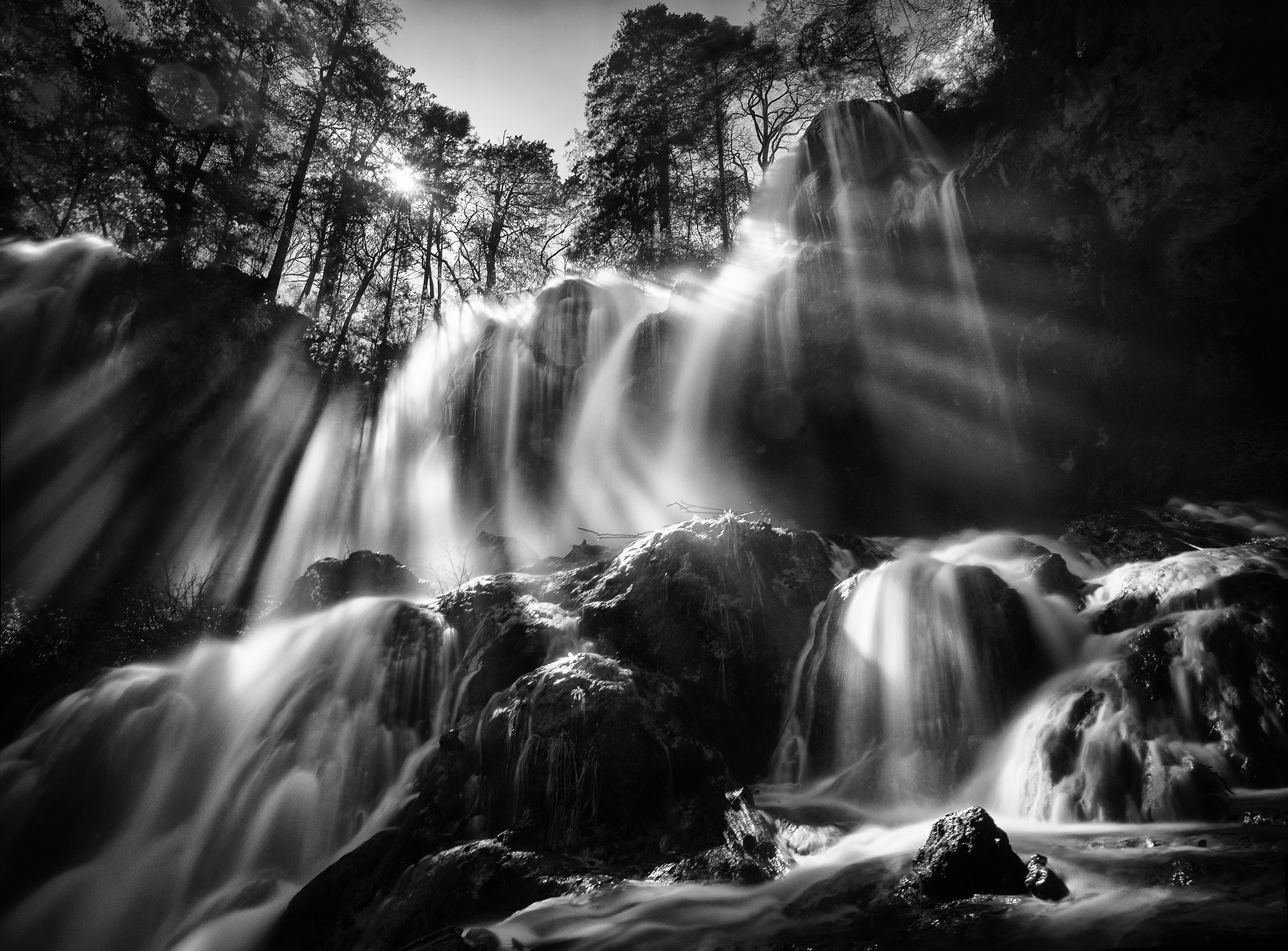 Photograph Rays of light over Panda Lake waterfall by Sergey Kuznetsov on 500px