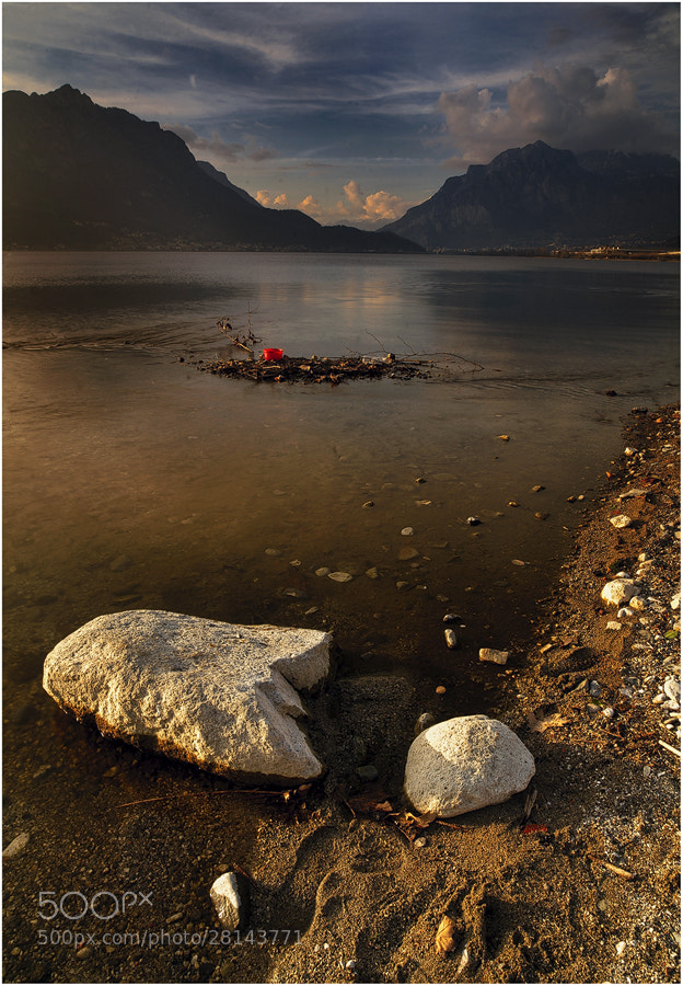 Photograph Golden light, white rocks..red bucket! by FeFoPhotography  on 500px