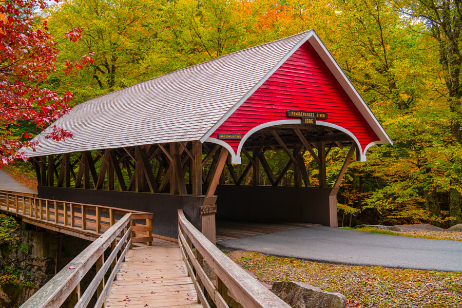 Pemigewasset River covered bridge by James Billings on 500px.com