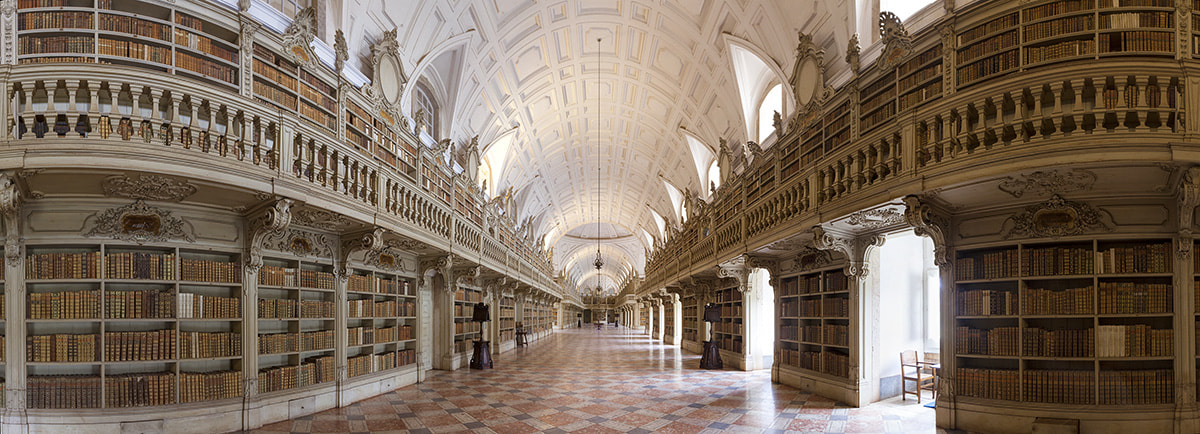 Photograph Mafra Library Panoramic by Rich Voninski on 500px