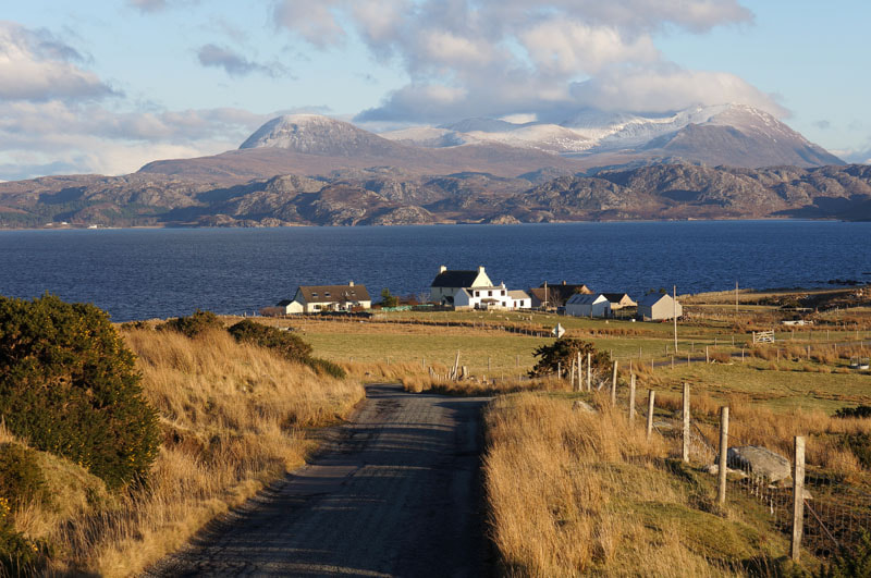Photograph Farmstead of Udrigle, Wester ross, Scottish Highlands by Heather Leslie Ross on 500px