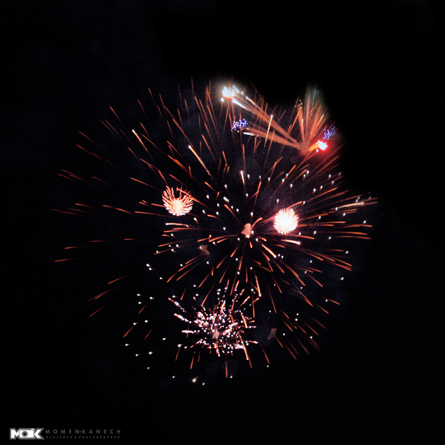 Photograph Fireworks on the shape of the face by Momen Kanech on 500px