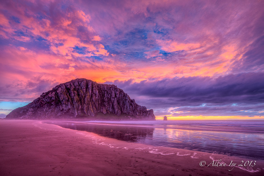 """Photograph """"Morro Rock Sunset"""" Morro Bay, California by Allan Ivy on 500px"""