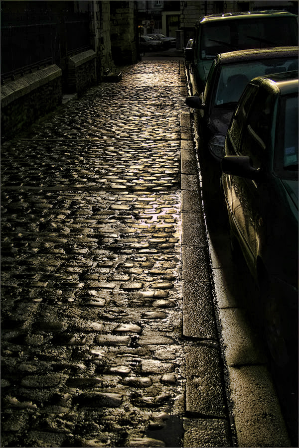 Photograph Wet Cobbles outside the Cathedral, Angers by Andrew Barrow ARPS on 500px