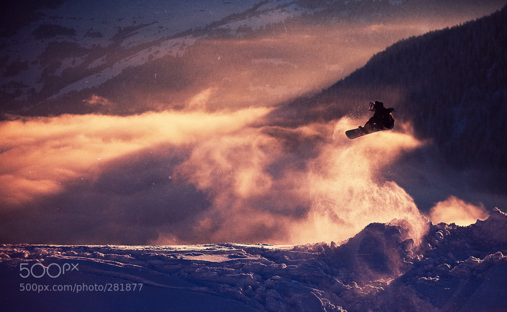 Photograph sunset snowboarding by Kirill Umrikhin on 500px