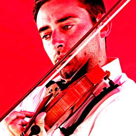 The RED violinist... by Arthur Talkins (gradman)) on 500px.com