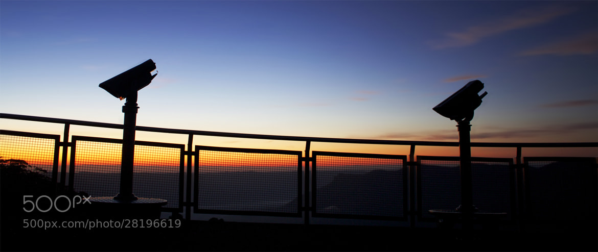 Photograph Spying A Sunrise || ECHO POINT || KATOOMBA by Rhys Pope  on 500px
