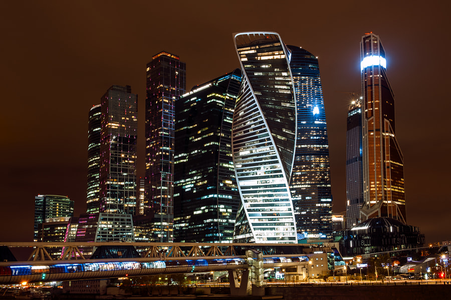 Moscow City at night by Yuri Depeche on 500px.com
