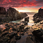 Taken at Bombo Beach, Sydney. Singh-ray Rev. 0.9 Soft GND was used in this shot.