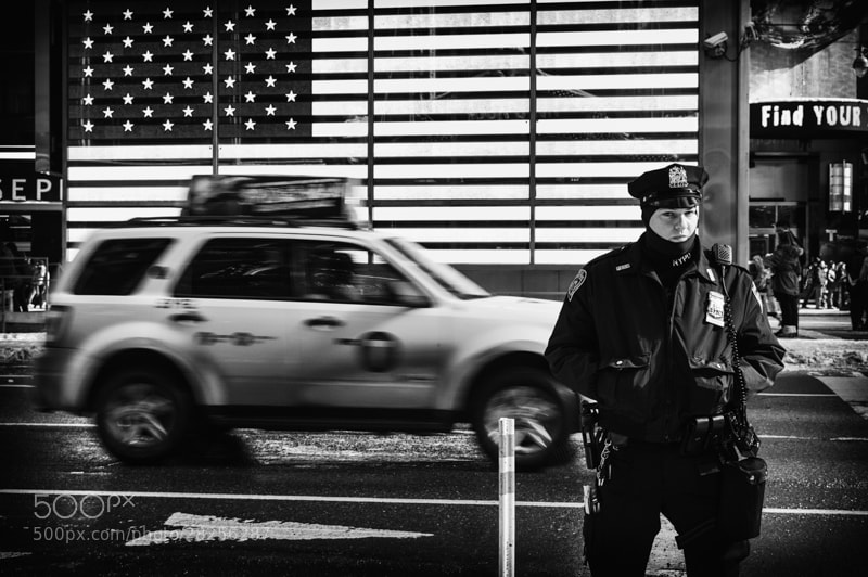 Photograph Times Square Police Woman by Vero Nick on 500px