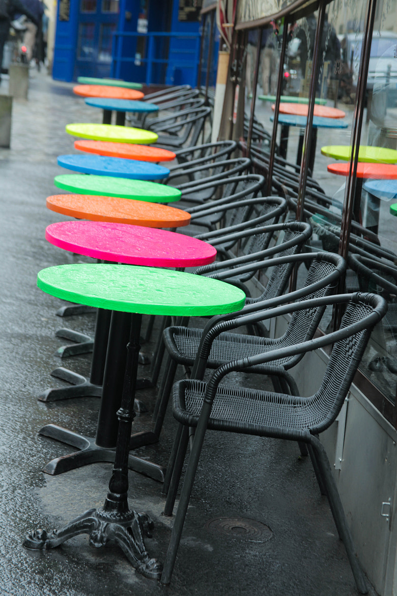 Photograph Tables outside café, Paris by Naomi Turner on 500px