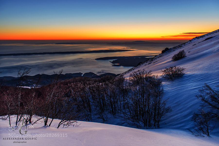 The last act before the day fades away above the Velebit mountain and the Adriatic sea