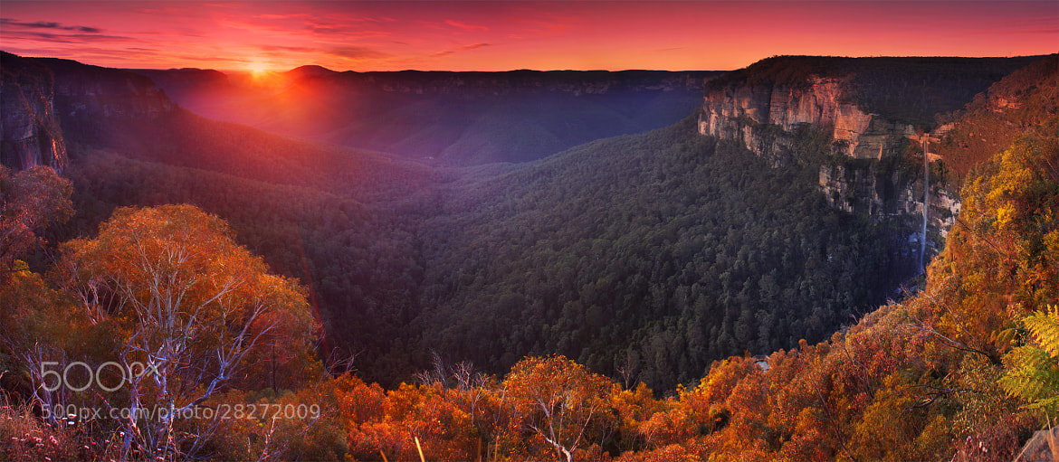 Photograph Govetts Leap Sunrise || HDR PANORAMA by Rhys Pope  on 500px