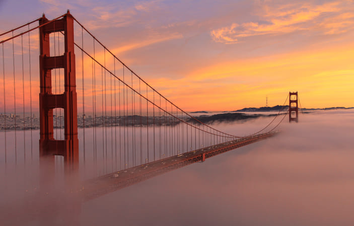 Fog crawling under the Golden Gate by Janet Weldon on 500px