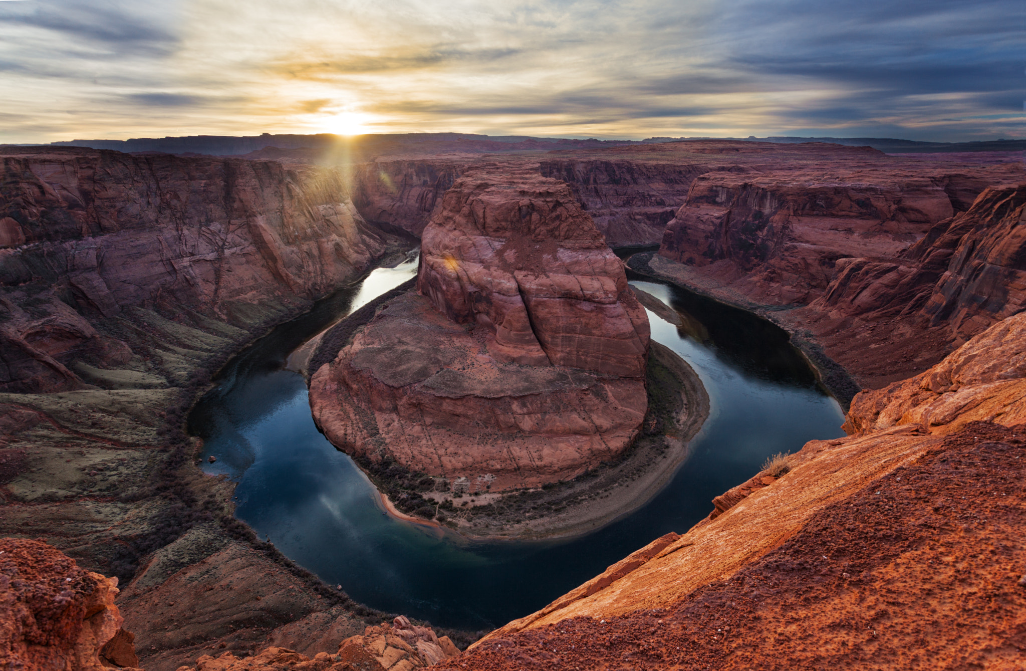Photograph Sunset over Horseshoe Bend by Marc Perrella on 500px