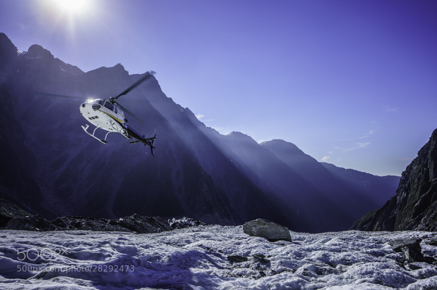 Photograph Helicopter Landing on Franz Josef Glacier by Justin Bishop on 500px