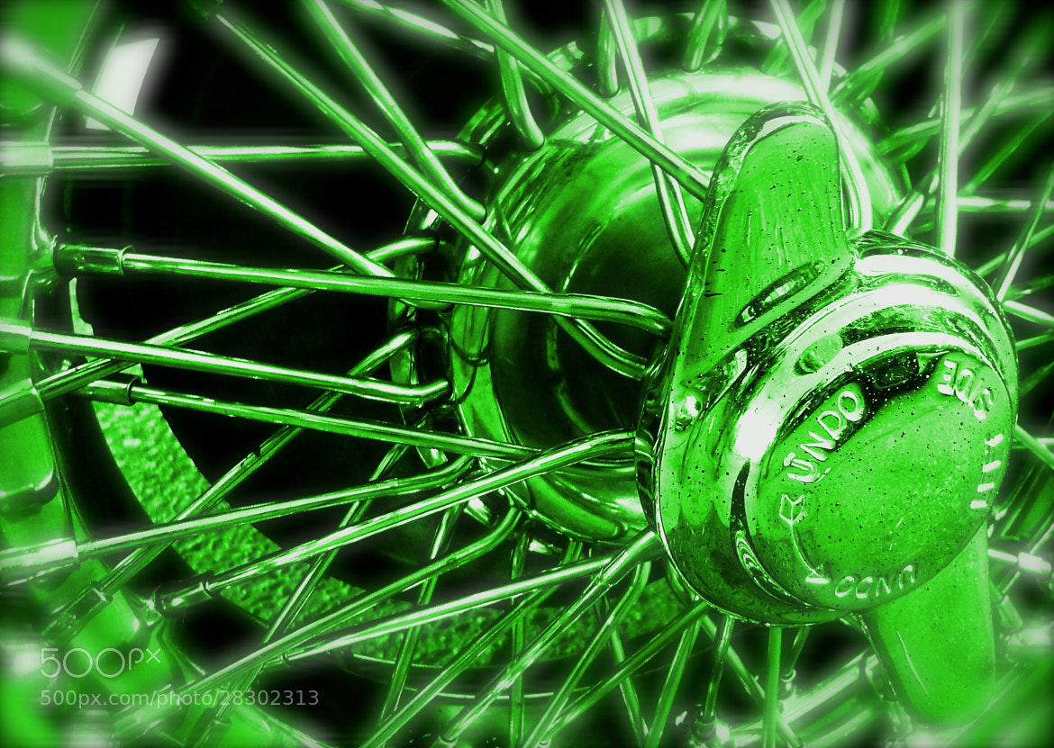 Photograph MGB Wire Wheel Colourised Green by John Colley on 500px