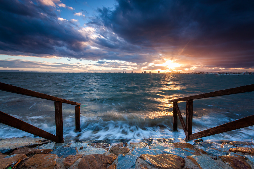 Photograph looking at sunset by Peter Pribylinec on 500px