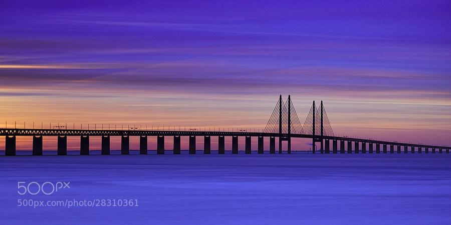 Photograph Öresundbridge Sunset by Magnus Larsson on 500px