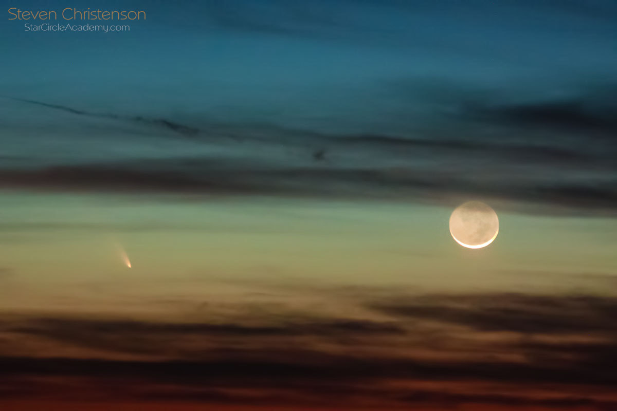 Photograph Panstarrs and Luna by Steven Christenson on 500px