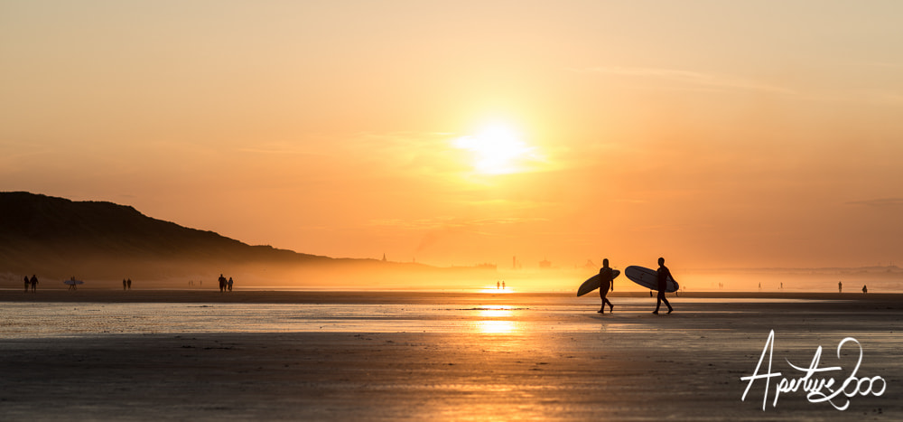 Photograph Saltburn Sunset Surfers by Colin Carter on 500px