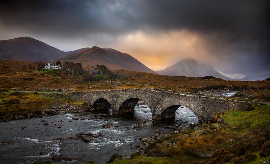 Le pont de Sligachan, Île de Skye