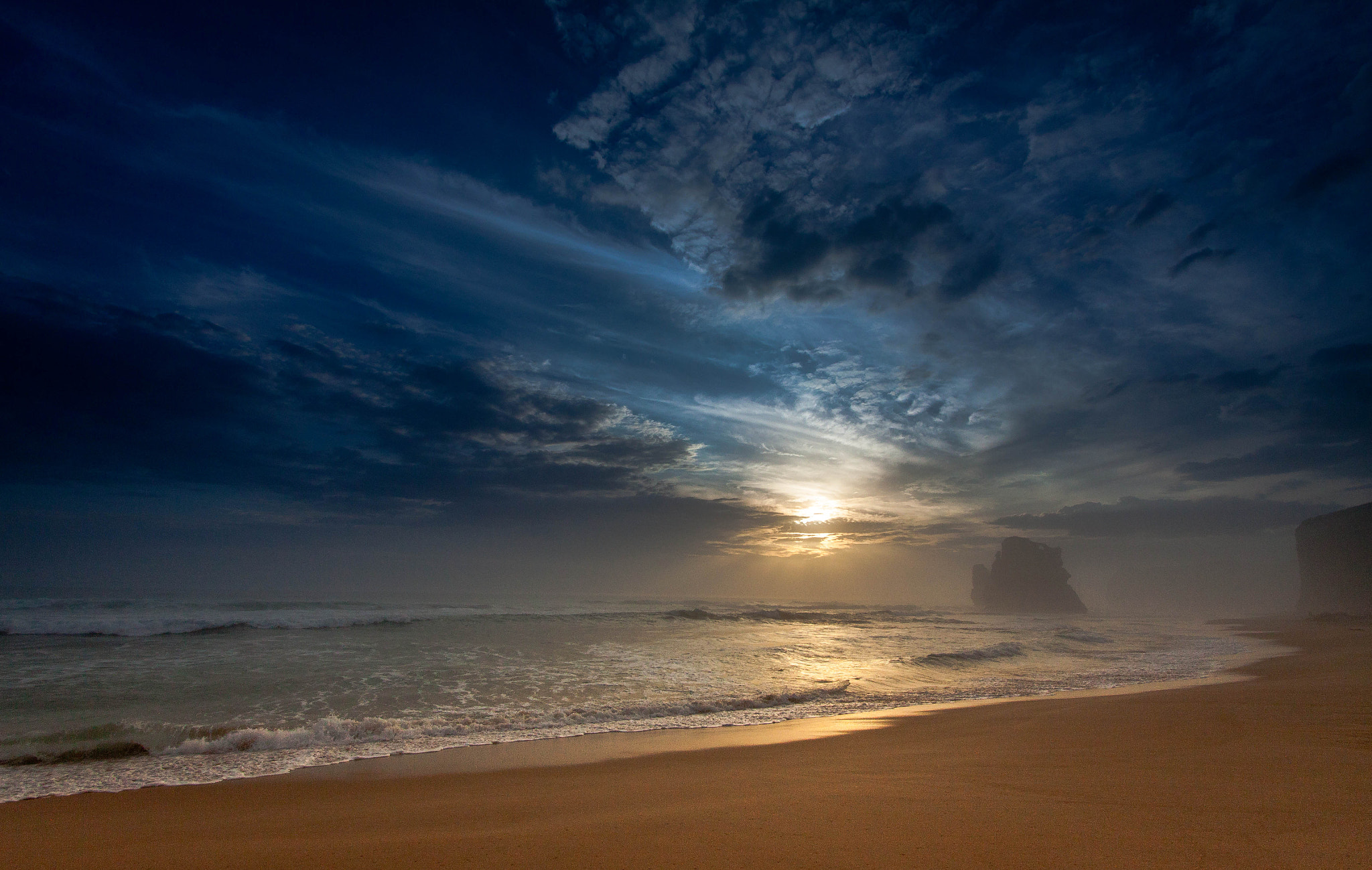 Photograph 'Hazy Beach At Dusk' by Jason Rosewarne on 500px