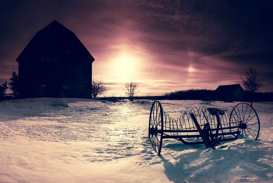 Photograph Sun Dogs under a Blood Red Sky by Peter Baumgarten on 500px