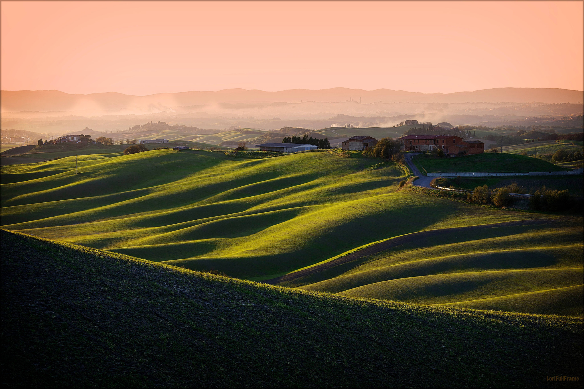 Photograph Mist over the Crete Senesi, towards Siena by Lorenzo ROSIGNOLI on 500px