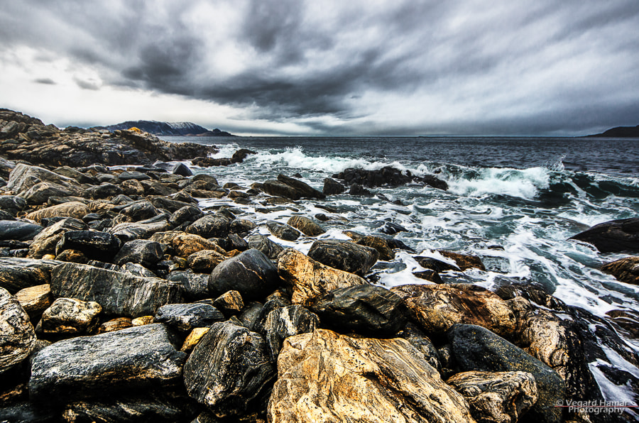 Photograph Rock, Water and Clouds by Vegard Hamar on 500px