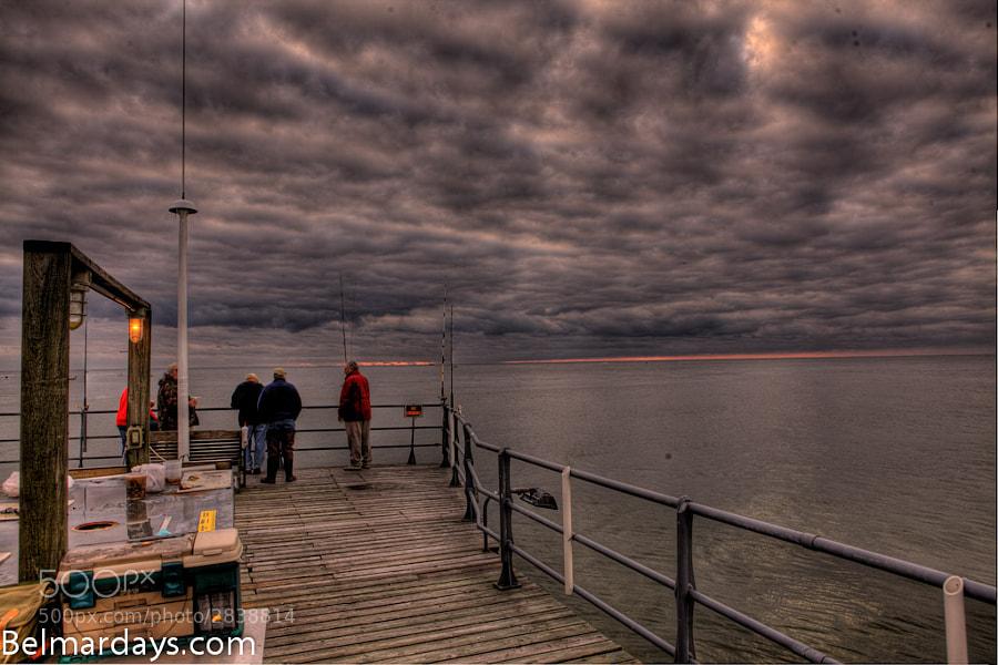 HDR Sunday fishing pier