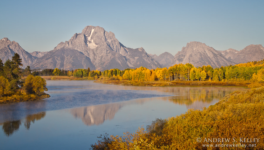 Photograph Mt. Moran from Oxbow Bend by Andrew Kelley on 500px