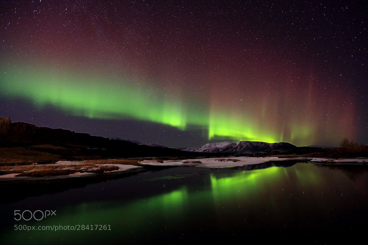 Photograph Northern Lights at National Park by Jon Hilmarsson on 500px
