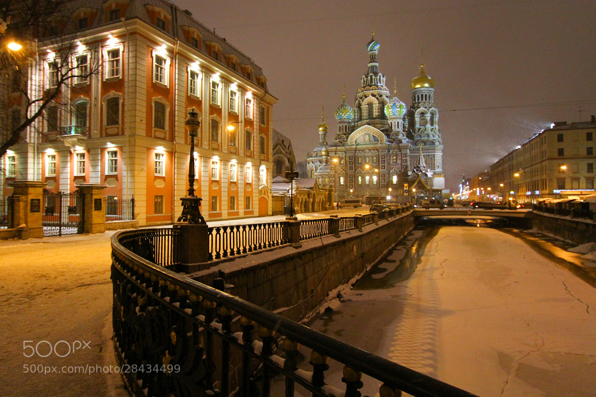 Photograph Church of our Savior on the Spilled Blood in winter by Alexandre Rosa on 500px